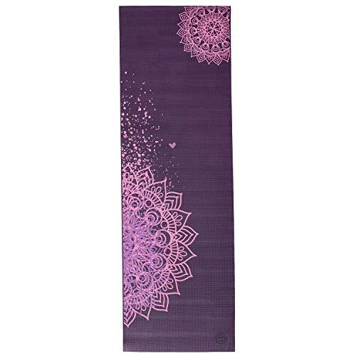 Yogamatte LEELA COLLECTION, viele Farbkombinationen und Design-Prints, Sticky Mat, leichte PVC-Matte, ideal für…