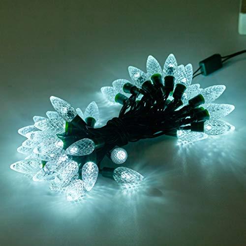 Christmas Workshop 7557050batteriebetrieben LED Berry Chaser Lichter mit Zeitschaltuhr, transparent weiß
