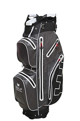 Golf Copenhagen Delray Golftasche Anthrazit Grau 100{fc0aa9aba34c38c1d816fde355591922e12923d3ff165878c35de1ec44caa601} wasserdicht (Grau)