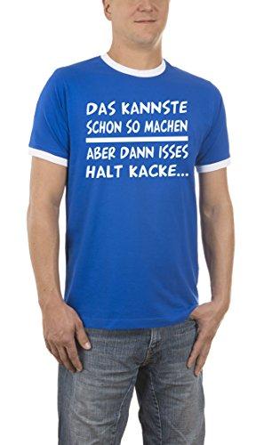 Touchlines Herren T-Shirt Das Kannste So Machen Kontrast Blau (Royal 09), Medium