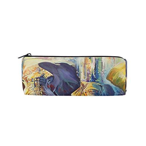BENNIGIRY Pinturas de Elefantes Indios Hermoso Estuche de sirena para lápices, bolsa...