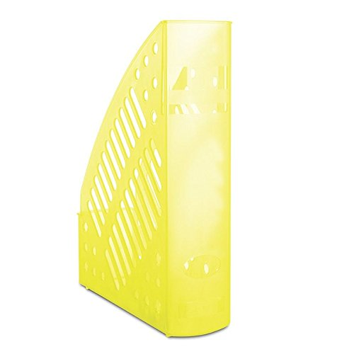 Danubio 7462188pl de 11revistero, durchbrochen, poliestireno, A4, transparente amarillo