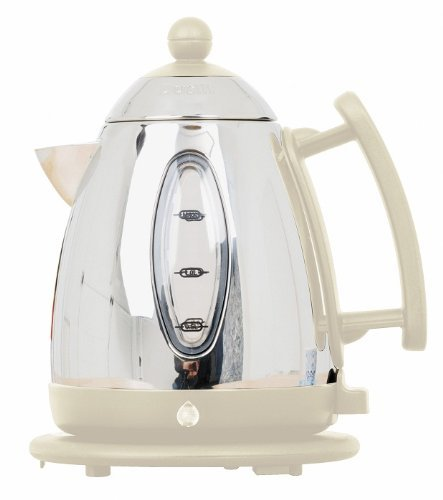 DUALIT CORDLESS PITCHER-STYLED STAINLESS STEEL KETTLE JUG IVORY