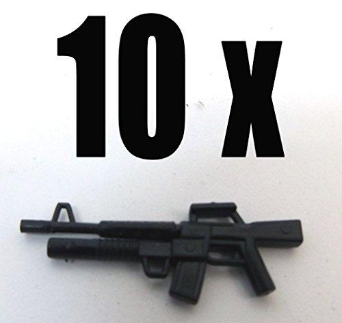 Modbrix 7601 - 10 x M4 Gewehr mit Granatwerfer Custom Waffen Set für Lego Figuren thumbnail
