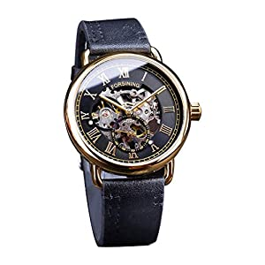 Automatische Mechanische Uhren | Luotuo Mode Hohle Design Business Mode Herren mechanische Uhr Ø40mm Zifferblatt mit Edelstahl Uhrenarmbänder 30M wasserdicht