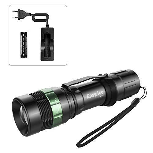 EasyAcc® Taschenlampe 3-in-1 mit Cree T6 LED Taschenlampe, Kopflampe mit Einstellbarem