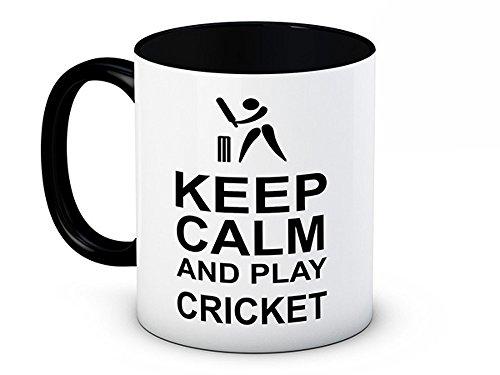 Keep Calm and Play Cricket–Funny Hochwertigen Kaffee Tee Tasse