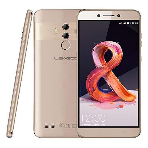 """Leagoo T8s - 5,5"""" 4G Smartphone, Android 8.1 Octa Core 4Go+32Go, Appareil Photo 13MP+2MP+5MP, Reconnaissance Faciale, Lecteur D'empreinte Digitale, Dual SIM, Téléphones Portables Débloqués"""