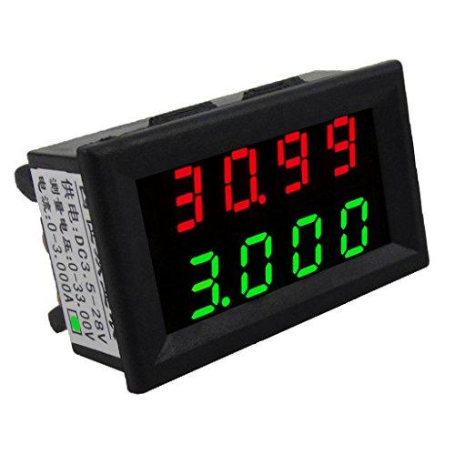 Almencla 0,28 Zoll 3 Draht Digital Voltmeter Amperemeter DC 3,5 28 V Messen Meter Spannung Ampere Meter LED Dual Display - Grün Digital Meter, Dc Ampere