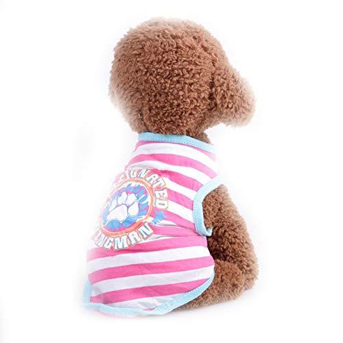 Sangni Atmungsaktives T-Shirt Weste Streifen, Rose Red, XS -