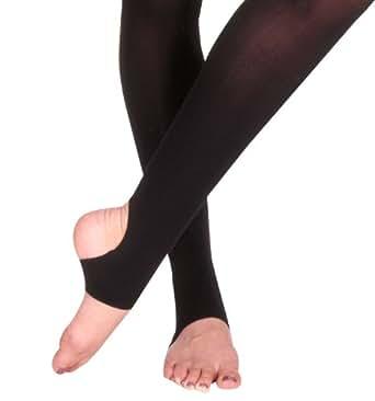 Bloch Women's Endura Stirrup Elastic Waistband Tights -  Beige -