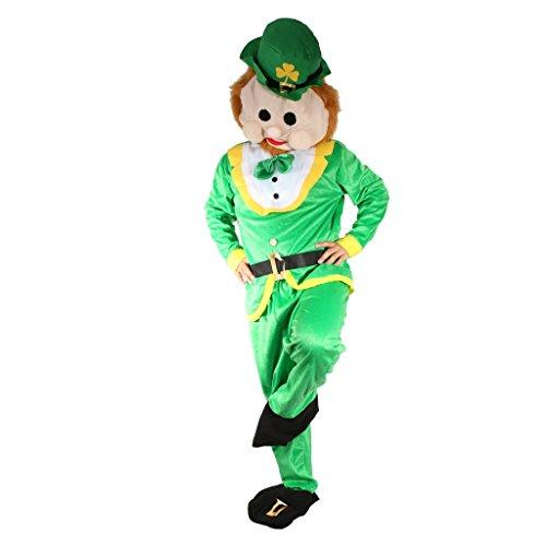 Gazechimp Glücksbringer Kobold Kostüm Märchen grün für Irish St. Patrick Day