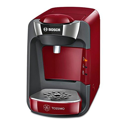 Bosch TAS3203 Tassimo Suny - Cafetera multibebidas automática de cápsulas con sistema SmartStart, color rojo