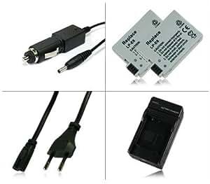 M&L Mobiles® | Chargeur + 2x Batterie LP-E8 LPE8 pour Canon EOS 550D | EOS 600D | EOS Rebel T2i | EOS Rebel T3i