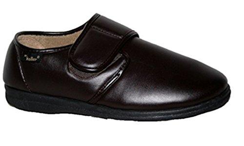 Dr Keller 0103382070 - Zapatos de cuero para hombre, color negro, talla 40.5