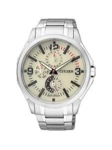 Citizen - AP4000-58W - Montre Homme - Quartz Analogique - Cadran Beige - Bracelet Acier Argent