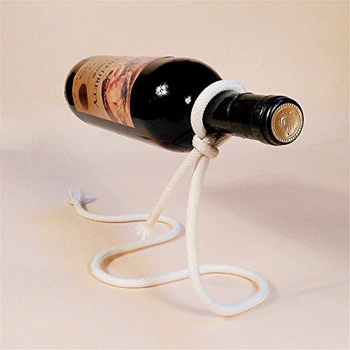 Pro Magic Seil Weinflaschenhalter Neuheit rot Wein Flasche Rack 3D Floating Seil Ständer, weiß,...