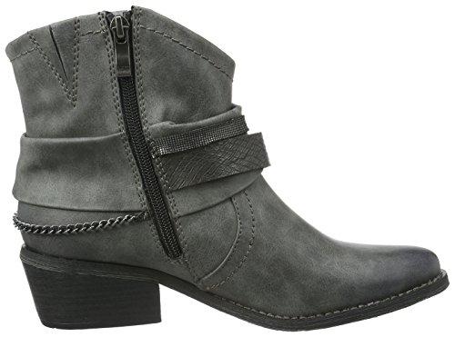 Marco Tozzi Damen 25043 Kurzschaft Stiefel Grau (Grey Antic Com 202)