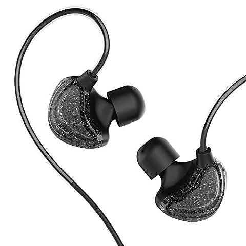 UiiSii CM5 Galaxy Ohrhörer Dynamic Driver Koaxial In Ear Sport Kopfhörer Ergonomische mit Mic (schwarzes Loch)