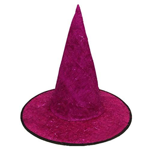 Fuibo Halloween Cap Hexe Hut, Adult Womens Mens -