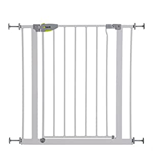 hauck barri re safety gate lxh 75 cm 81 cm x 77 cm blanche b b s. Black Bedroom Furniture Sets. Home Design Ideas