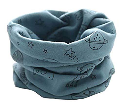 Boomly autunno e inverno calda multifunzione sciarpa per bambini loop o-ring sciarpa infinita scaldacollo sciarpa in cotone (blu#2)
