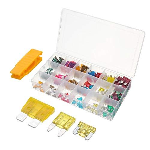 Yongse 165 Stück ATC Mini Low Blade Fuse Kit Box 1-40 Amp 40a Fuse Terminal