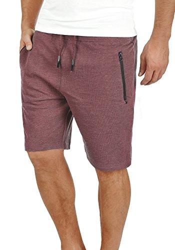 Loose-fit Boxer Unterwäsche (!Solid Taras Herren Sweatshorts Kurze Hose Jogginghose Mit Verschließbaren Eingriffstaschen Und Kordel Regular Fit, Größe:XXL, Farbe:Wine Red Melange (8985))