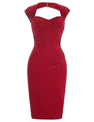 Business Pencil Dress Sleeveless Bodycon Skirt Well Elastic Size Pencil Dress Size 12 BP155-1