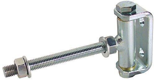 Türscharnier Türbänder Torangel verstellbar   Torband M16 x 200 mm   Stahl massiv   Öffnungswinkel 180°   Torband für Holz & Metallkonstruktionen   Tor-Scharnier mit verstärkten Bandstift   1 Stück (Holz-tor Scharniere)