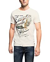 ESPRIT Men's Twist Plain Short Sleeve T-Shirt