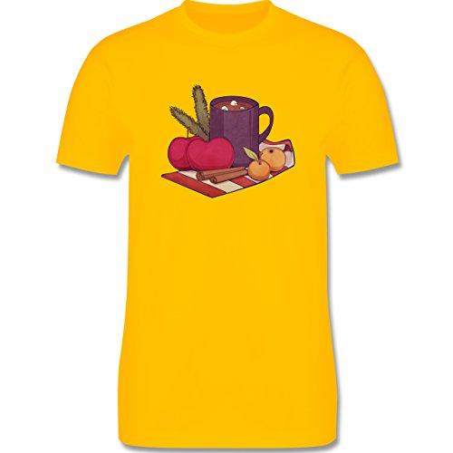 Statement Shirts - Apples and Cinnamon - Herren Premium T-Shirt Gelb