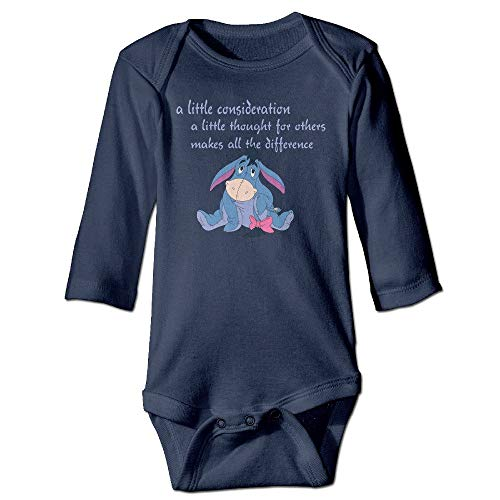dsfsa Babybekleidung PTCY The Pooh Eeyore Consideration for 6-24 Months Toddler Romper Outfits Navy