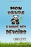 Cahier: avec une réglure seyès parfait pour la rentrée scolaire, fans et amateurs de panda