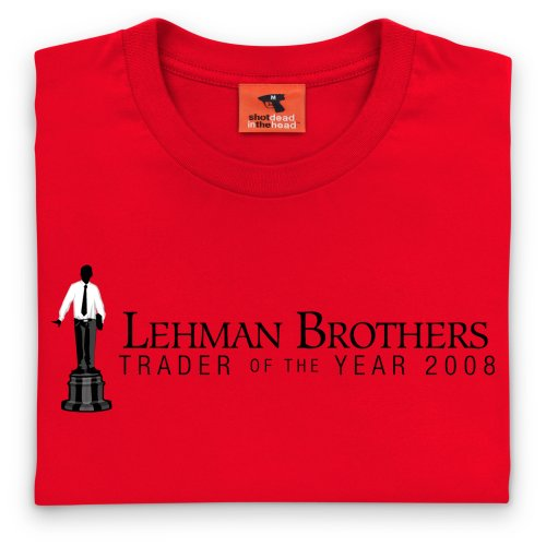 Square Mile Lehman Brothers T-Shirt, Herren Rot