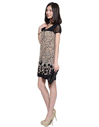 ZEARO Elegant Minikleid Partykleid Cocktailkleid Sommerkleid Strandkleid Abendkleid Bunt