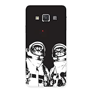 Delighted Cat Astro Back Case Cover for Galaxy A3