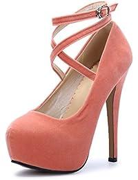 Amazon.es  Naranja - Zapatos de tacón   Zapatos para mujer  Zapatos ... 1d8c57af2495