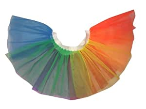 Honey B's Jupe Tutu arc-en-ciel Multicolore ® UV Bandeau Taille unique du 36 au 44)