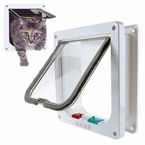 1x Tunnel Cache Découpe Chatière Chien Porte de Chat avec Serrure Chatières pour Petit Animaux Cat Mate Verrouillable Facile à Installer Bla... 1