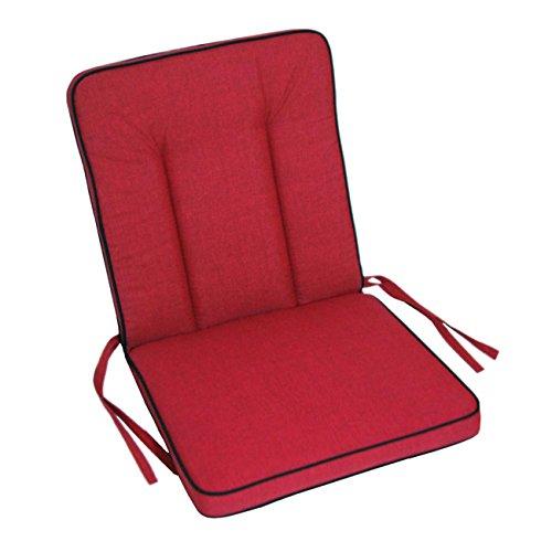 Polsterauflage MBM Romeo / Rosanna Elegance Gartenstuhl von OUTLIV. Hochlehnerauflage Sitz- Rückenkissen rot Sitzauflage Gartensessel