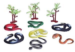 Wild Republic- Juego de Figuras de Caza, Mundo de Serpientes, Cubo pequeño, Adventure Bucket Mini, 10 cm, 10 Piezas, (23157)