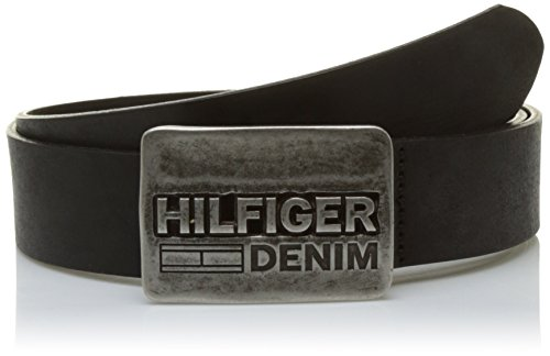 Tommy Hilfiger Herren  Gürtel THD PLAQUE BELT 3.5, , , , , Gr. 105 cm, Schwarz (Black 002)