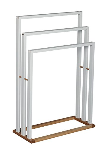 MSV Handtuchhalter Handtuchständer mit 3 Handtuchstangen Bambus Maße: ca. 82 x 54 x 24