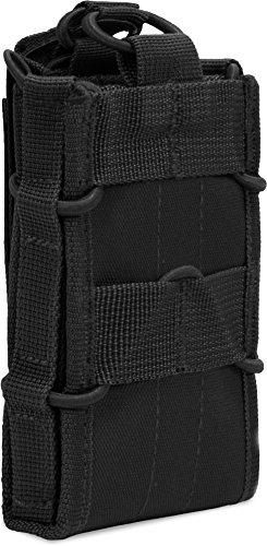 Allzweck-taschen (normani Allzweck-Tasche für Kleinausrüstung mit MOLLE Befestigung für Funkgeräte, Magazine Farbe Schwarz)