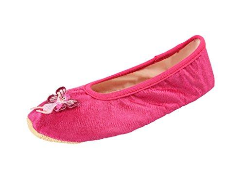 (YUMP YUMPZ TINKERBELLA Pink #39 - Turnschläppchen Aus Deutschland Gymnastikschuhe/Saalturnschuhe/Ballettschuhe/Flats – Für Mädchen und Jungen -in Gr.25)