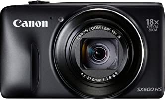Canon PowerShot SX600 HS Digitalkamera (16 Megapixel, 18-fach opt. Zoom, 7.5 cm (3 Zoll) Display, Full HD, WLAN, NFC) schwarz