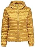 ONLY Damen Steppjacke Übergangsjacke Kapuzenjacke Leichte Jacke (S, Golden Yellow)