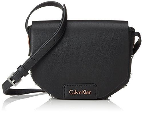 Calvin Klein Jeans Damen JOLI3 Saddle Bag Umhängetaschen, Schwarz (Black 001 001), 17x24x7 cm