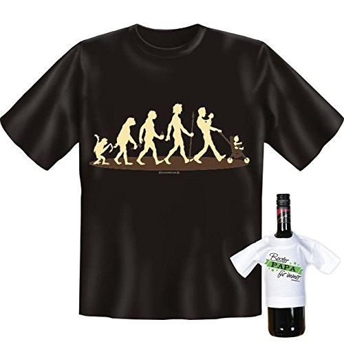 """orginelles und witziges T-shirt Set / Vatertag Farbe: schwarz """" Evolution """" Schwarz"""